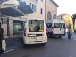 Nostro Fiat Doblò a NOLEGGIO per trasporto di una persona in carrozzina